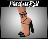 Onyx leather heels