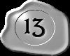 13 Silver White Black 13
