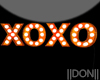 Orange XOXO Lamps