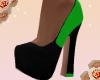 {L4}green pop heels