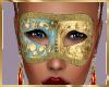 Blue & Gold  Mask