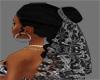 Black Lace Veil w/hair