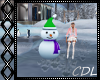 !C* W Snowman Skating
