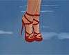 Red strap shoes