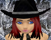 Midnight Cowgirl Hat RD3
