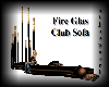 Fire glas club sofa