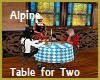 Alpine Table for Two Ani