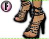 F! - Gladiator Heels Blk
