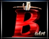 Letter B red With Pose