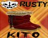 Rusty Xmas Boots