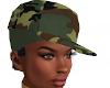 CAMO HAT WITH SHORT HAIR