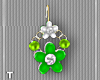 LimeWhiteFlower Earrings