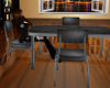 Black Retro Table Set