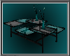 Teal and Black Table