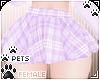 [Pets]Plaid skirt |Lilac
