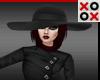 Black Satin Floppy Hat