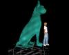 Jade Cat Statue