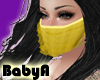 ! BA Gold Ruffle Mask 1