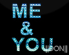 Me & You Blue Neon Lamps