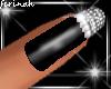 !f Sparkling Black Nails