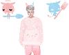 pink blue devil angel
