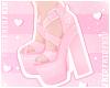 F. Lovely Heels Pinku