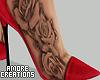 $ Red Heels + Tattoo