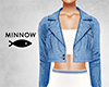 Crop Jacket - Denim