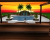 Sunset pool party room