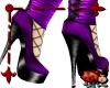 Ankle Plats w/Net Purple