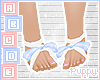. Blue Fairy Feet RIbbon