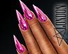 Nails: Pink Metallic