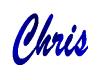 Chris Name Sign