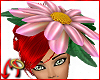Daisy Hat Pink Satin