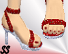 SS Red/silver Spikeheel