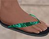 Tiger Stripe Flip Flop M