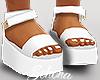 ṩ Platform Sandals Wht