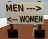 Men Woman Sign