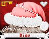 *D* Lit Santa Hat Pink