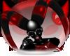 Red/Black PVC Uber Horns