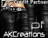 (AK)Blk leather pants PF