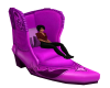 Purpleish Boot Chair