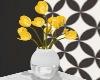 Yellow Tulip/w Vase