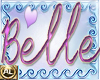 NEON NAME -BELLE STICKER