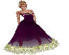 Purple Yellow Ballgown