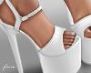f. white platform heels