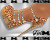 Shimmer Gold Heels