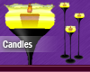 Yellow Animated Candles