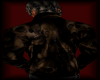 [LM]skull leather M-brn