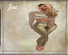 *J * GOLD LACE OUTFIT